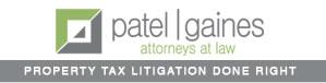 Patel Gaines Property Tax Litigation